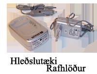 hleðslutæki og rafhlodur