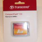 Transcend  8GB CF minniskort