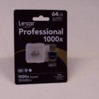 Lexar Professional 64 GB micro SD minniskort.