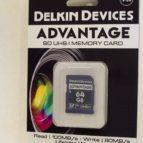 Delkin 64 GB SDHC minniskort